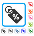 discount tag framed icon vector image vector image