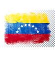 distressed grunge flag venezuela vector image
