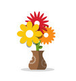 flower icon flowers in vase vector image vector image