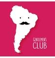 Fun mustache club cartoon South America map vector image