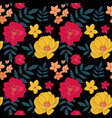 hand drawn flower seamless pattern background vector image vector image