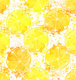 Hand drawn watercolor seamless pattern of lemon vector image vector image