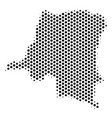 honeycomb democratic republic of the congo map vector image vector image