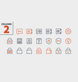 keys and locks outlined pixel perfect well-crafted vector image vector image