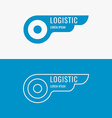 Logo for logistics company vector image vector image