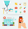 Medical Health care and emergency concept First vector image vector image