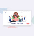mineral mud bath landing page template spa vector image