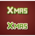 modern christmas background invitation vector image