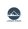 mountain landscape logo design vector image vector image