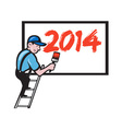 New Year 2014 Painter Painting Billboard vector image vector image