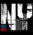 newyork typography graphic design vector image vector image