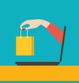 on line shopping concept vector image vector image