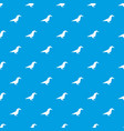 origami raven pattern seamless blue vector image vector image