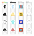 patterns clothes colors and other web icon in vector image vector image