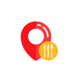 pin restaurant location icon design pin map vector image
