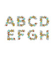 rubbish font trash abc garbage alphabet letter vector image vector image