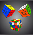 rubik s cube in different positions realistic vector image