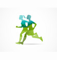 run icon symbol marathon poster and logo vector image vector image