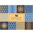 Seamless Geometric Grid Halftone Patterns vector image vector image