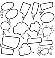 set empty comic speech bubbles design element vector image vector image