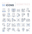 set line icons biometrics vector image