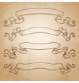 Set of banners Vintage ribbons vector image vector image