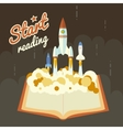 Start Reading Science Fiction Space Poster Concept vector image vector image
