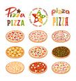 Stock of pizza varieties vector image vector image