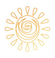summer sun drawing icon vector image vector image