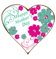 swirl heart mothers day vector image vector image