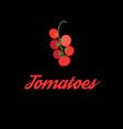 symbol red tomato vector image