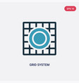 two color grid system icon from technology vector image vector image