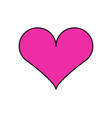 valentine day heart icon vector image vector image