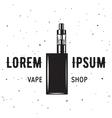 Vape e-cigarette emblem label print logo vector image