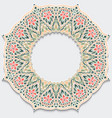 vintage flower frame mandala with shadow delicate vector image vector image