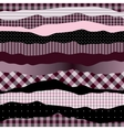 Waves pink collage vector image vector image