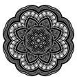 Beautiful Deco Black Mandala vector image