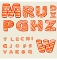 ethnic alphabet vector image