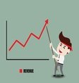 Businessman accelerate business growth vector image