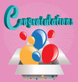 3d text congratulations vector image vector image