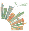 Abstract Kuwait City Skyline with Color Buildings vector image vector image