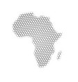 africa map triangle halftone pictogram dotted vector image vector image