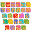 alphabet english blocks vector image vector image