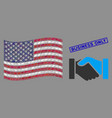 american flag collage handshake and grunge vector image vector image