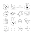 Animal related icon or pet logo set vector image