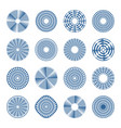 arrows in circle patterns vector image vector image