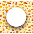autumn round background with orange leaves vector image vector image