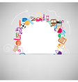 back to school circle seamless children background