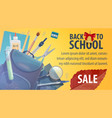 back to school store sale promo poster vector image