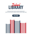 banner school library stack of books vector image